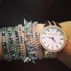 Cute wrap bracelets and spiky bracelet by Stella & Dot.