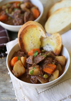 Slow Cooker Beef and Potato Stew - looks good, lots of ingredients