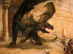 Dragon Concept Art by Lucas Graciano