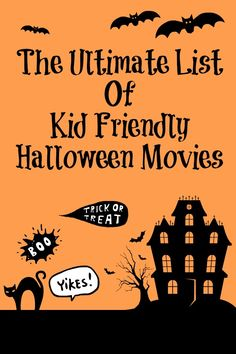 The Ultimate List of Kid Friendly Halloween Movies: Plan a fun Halloween Movie night with the family Halloween Desserts, Halloween Goodies, Halloween Games, Halloween Activities, Halloween Projects, Spooky Halloween, Holidays Halloween, Happy Halloween, Halloween Decorations