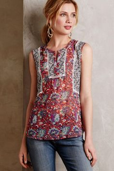 Laced Viticella Tank - anthropologie.com