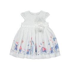 Elephant Print Corsage Dress | Baby | George at ASDA