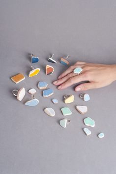 rings made from ceramic found at construction sites in Israel by Noga Berman