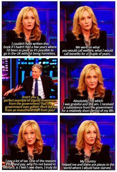JK Rowling, on her years as a single-mother on benefits & not being a tax-avoider.