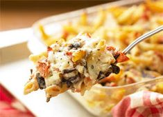 Baked Radicchio and Mozzarella Pasta Recipe  This dish is hearty enough to be a whole meal, but it also makes a great accompaniment to a roast or a large green salad with a slightly acidic vinaigrette (to balance the robustness of the pasta).