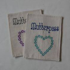 #sticken #nähen #mutterpasshülle Baby Accessories