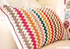 crochet:  granny stripe.  link to the tutorial: (http://attic24.typepad.com/weblog/granny-stripe.html)