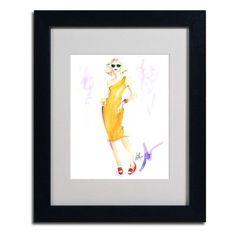 "Trademark Art ""Sunny Delight"" by Jennifer Lilya Framed Painting Print Size:"