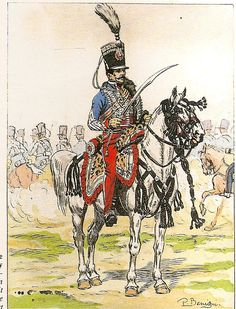 French; 1st Hussars, Le Colonel Clary, 1814