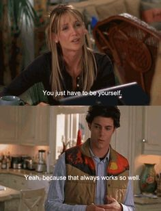 """You just have to be yourself."" ""Yeah because that always works SO well."" -Seth & Kirsten Cohen. #TheOC Season 1, #13: The Best Chrismukkah Ever."""