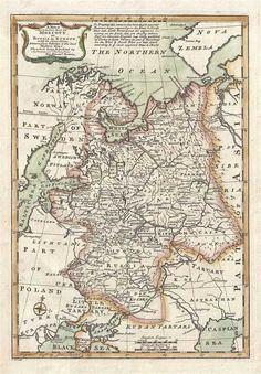 Unique 14th century world map canvas print pieter pinterest 1747 bowen map of european russia gumiabroncs Image collections