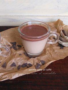 panna cotta al caffé con salsa al cioccolato/mangioridoamo/dolci proposte