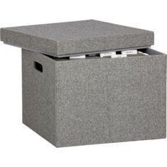 felt covered file boxes