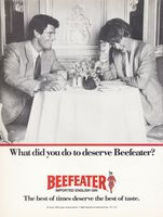 Beefeater Gin Imported By Kobrand 1987 Ad Picture