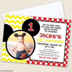 Mickey Mouse birthday party invitations!
