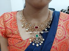 Diamond Necklace Set, Diamond Choker, Emerald Necklace, Diamond Jewelry, Gold Pendent, Diamond Pendant, Bridal Bangles, Gold Bangles, Diamond Tops
