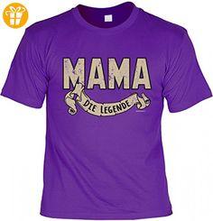 T-Shirt Funshirt als Geschenk - Mama die Legende - lustiges Spruchshirt für die Mutter zum Geburtstag und Muttertag, Größe:L (*Partner-Link)