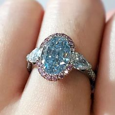 An incredible 3.04 carat fancy intense blue diamond at Bonhams Hong Kong, Rare Jewels and Jadeite auction, 1st June #lot620 #skyblue #bluediamond #pinkdiamonds #bonhamshk #bonhams #hongkong #jewelry #buyrocksnotstocks #rare #exceptional #gorgeous #scottwest www.bonhams.com/auctions/23346/lot/620