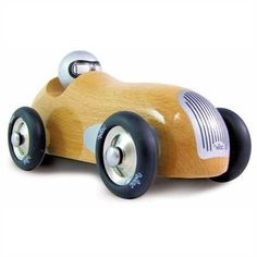 Natural Wood Sports Car by Vilac: Made in France