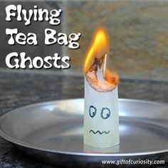 If you are looking for a Halloween science activity that the kids will be screaming with excitement about, make some flying teabag ghosts!