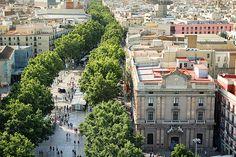 Las Ramblas ... Barcelona, Spain