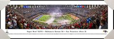 2013 #SuperBowl XLVII #Baltimore #Ravens vs #SanFrancisco 49ers #NFL #Football #HomeDecor #OfficeDecor #Gifts #Art #Maryland #MD #DMV #Professionally #Framed #Poster #Picture