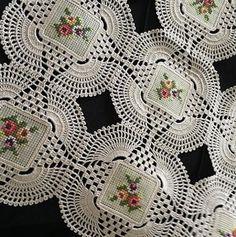 Crochet Applique Patterns Free, Crochet Square Patterns, Needlepoint Patterns, Doily Patterns, Crochet Chart, Thread Crochet, Baby Knitting Patterns, Crochet Motif, Crochet Designs