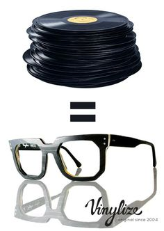 3daf0d6a358 vinylize produces eyewear from unwanted vinyl records. Glasses FramesRay  Ban SunglassesEyeglassesRay ...