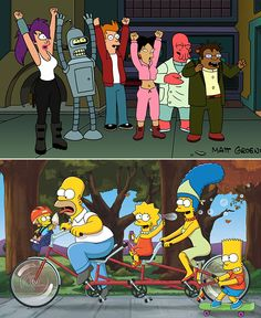 The Simpsons Meet...Part 2!: 'The Simpsons' to join forces with 'Futurama' for crossover episode | Inside TV | EW.com
