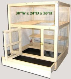 chinchilla wooden cages diy - Google Search
