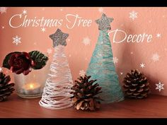 DIY Christmas Decorations | How to Make Tabletop Christmas Trees - YouTube