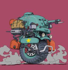 Simple Character, Character Art, Character Design, Arte Robot, Robot Art, Tank Drawing, Cars Characters, Cartoon Monsters, Robot Concept Art