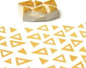 Little Chevron Rubber Stamp - Hand Carved Stamp. $5.00, via Etsy.