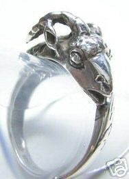 Very Detailed Ram Ring Silver Jewelry Aries Zodiac Sterling Silver 925 Jewelry