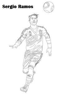 Coloriage du joueur de foot Neymar. À imprimer