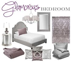 Glamorous Bedroom Mood Board | Brass & Whatnots