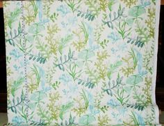 Ocean fabric coral blue aqua green sea glass watercolor garden from Brick House Fabric: Novelty Fabric