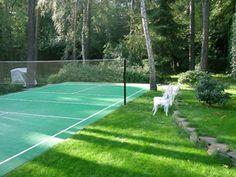Волейбольная площадка с искусственным покрытием