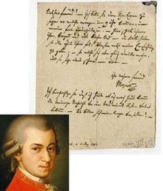 a letter written by Mozart