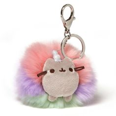 GUND Pusheen the Cat Plush Toy Stuffed Animal Doll. GUND is proud to present Pusheen. This 4 Pusheen keychain brings her adorable on screen bop. and mythical persona to life as a fluffy Pusheenicorn poof! Pusheen Unicorn, Pusheen Plush, Pusheen Cat, Unicorn Cat, Rainbow Unicorn, Pusheen Stuff, Grey Tabby Cats, Plush Dolls, Cat Love