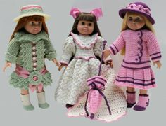 Victorian crochet  American Girl doll clothes pattern