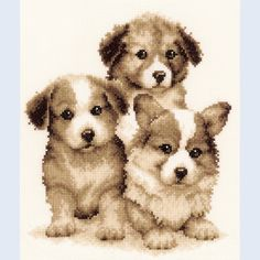 Puppy Friends - counted cross-stitch kit Vervaco