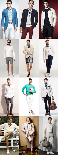 Men's 2014 Spring/Summer The Cricket Influence Summer Whites/Creams Lookbook Inspiration