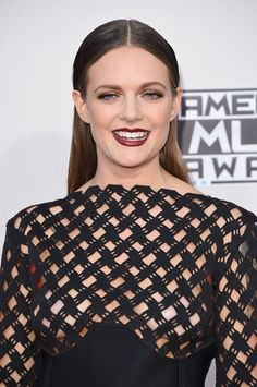 Pin for Later: Stare at Every Stellar Beauty Look From the American Music Awards Tove Lo Tove's creamy maroon lip made a dramatic statement with her gown.