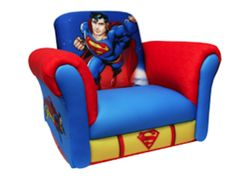 This classic Superman Deluxe Rocking Chair is perfect for toddler Superman fans And its Super comfy     The Superman toy box would complete the look Sold separately. See below.     Cleans easily with mild soap. Polyester.     Light assembly.     Dimensions: 24.5W x 19D x 19H     Made in USA Toddler Rocking Chair, Rocking Chairs, Boy Room, Kids Room, Child's Room, Saarinen Chair, Plastic Patio Chairs, Superman Costumes, Superhero Kids