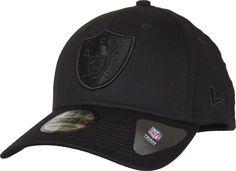 Raiders New Era 3930 Black On Black Stretch Fit NFL Cap – lovemycap 6ddc12c999d