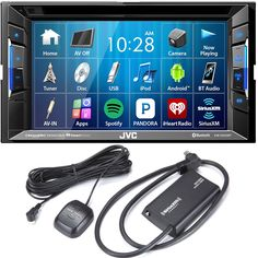 JVC KW-V230BT Bluetooth DVD/CD/USB Receiver with 6.2 Inch Touch Panel with Sirius XM Tuner