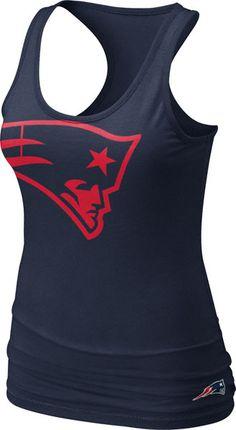 #NewEnglandPatriots Women's Navy Nike Big Logo Tri-Blend #TankTop $29.99 http://www.newenglandusa.com/New-England-Patriots-Pro-Shop/new-england-patriots-womens-apparel.php