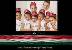 Március 15, Pécsi mazsorett csoport Nemzeti ünnep Magyaros ruha Twirling
