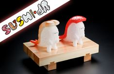 Nakao Teppei x Sentinel - SUSHI L.A Maguro and Ebi sofubi figures announced! #Convention #Japan #LimitedEdition #SoftVinyl #Sofubi
